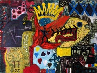 """Holocaust Oil on Canvas 39.5"""" x 55"""""""