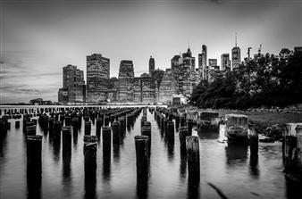 "Brooklyn Pier Stumps - Ron Smithson - United States Photograph 0"" x 0"""
