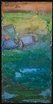 """No. 11 Oil on Canvas 39"""" x 19.5"""""""