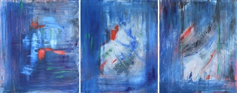 "Hope, triptych Acrylic on Canvas 25.5"" x 66"""