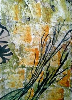 """Naturaleza III Acrylic on Paper 67"""" x 20"""""""