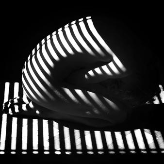 "Stripes Silver Gelatin Print 23.5"" x 23.5"""