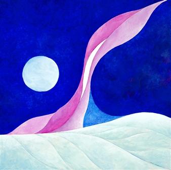 """Artic Sky Acrylic on Canvas 24"""" x 24"""""""
