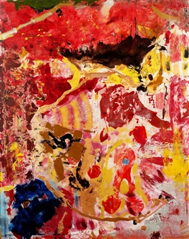 "59 to 1 Acrylic & Oil on Canvas 59"" x 47"""