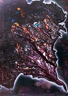 """Lilith Acrylic & Spraypaint on Canvas 39.5"""" x 28"""""""