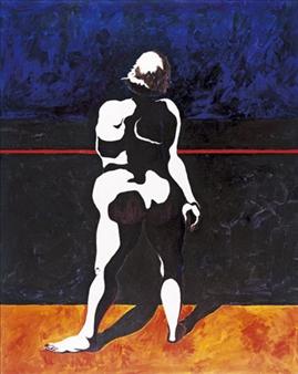 """Nude Noir Acrylic on Canvas 60"""" x 48"""""""
