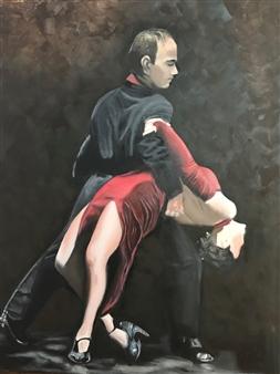 """Noche de Tango Oil on Canvas 35.5"""" x 31"""""""
