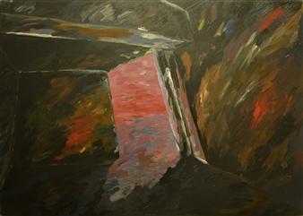 """Gass Chamber Auswitz 2 Oil on Canvas 39.5"""" x 55.5"""""""