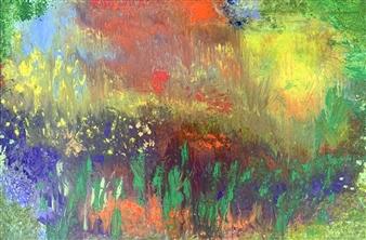 "The English Garden Oil on Canvas 30"" x 40"""