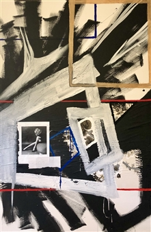 "My Boundary Does Not Move Mixed Media on Canvas 72"" x 48"""