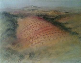 """Le Champ Rose Acrylic on Canvas 17"""" x 21.5"""""""
