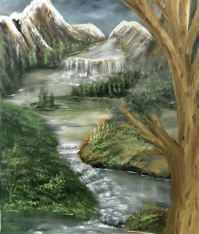 "Wonderful Day Oil on Canvas 39.5"" x 31.5"""