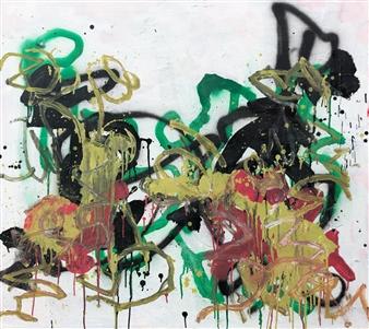 """Fri 1 Acrylic & Oil on Canvas 37.5"""" x 41.5"""""""