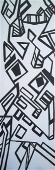 "Masque Opus 1.0 Acrylic with Satin Varnish Polymer 72"" x 24"""