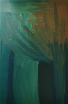 """Bamboo in the Wind Acrylic on Canvas 39.5"""" x 31.5"""""""