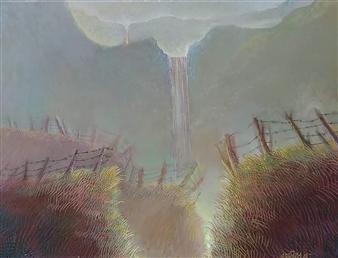 "Paisaje Poético Oil on Canvas 12"" x 16"""