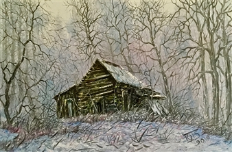 """Old House Oil on Canvas 16"""" x 23.5"""""""