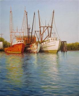 "Bahia de Jiquilisco Oil on Canvas 23.5"" x 19.5"""