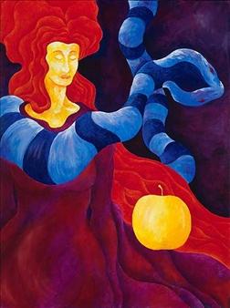 """Eve's Dream Acrylic on Canvas 40"""" x 30"""""""