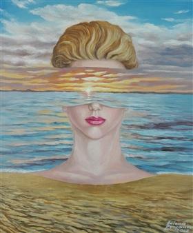 """Athena Oil on Canvas 23.5"""" x 20"""""""