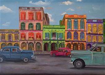 "Bienvenidos Oil on Canvas 17"" x 31.5"""