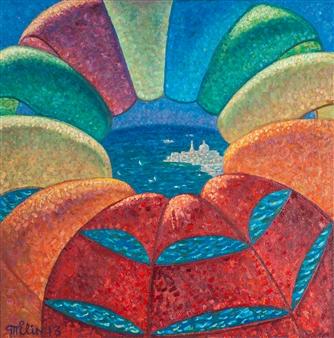 "Parachute Oil on Canvas 31.5"" x 31.5"""