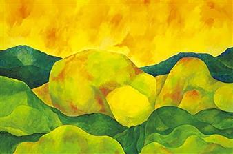 "Sleeping Landscape Acrylic on Canvas 24"" x 36"""