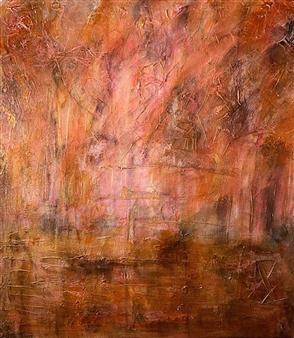 "Bronze Mixed Media & Acrylic on Canvas 36"" x 34"""