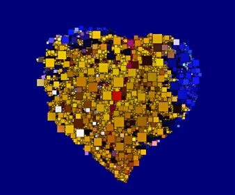 "Heart Digital Sublimation Print on Aluminum 30"" x 36"""