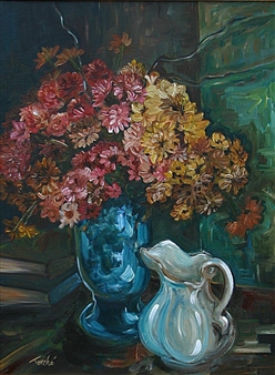 """Fall Flowers Acrylic on Canvas 30"""" x 24"""""""
