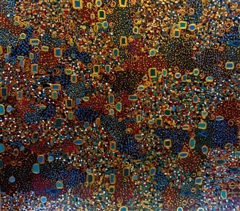 """The World Acrylic on Canvas 27.5"""" x 31.5"""""""