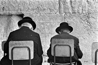 "Father and Son,  (Jerusalem) Gelatin Silver Photo 8"" x 12"""