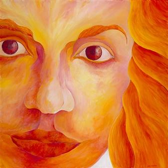 "Rose Acrylic on Canvas 36"" x 36"""