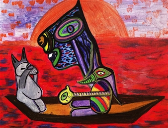 """Animal Dust Acrylic on Canvas 12"""" x 16"""""""