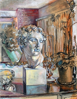 Classical Bust with Mirror and Objects