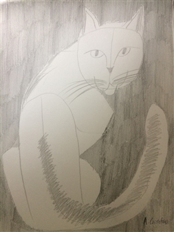 "Smokey Graphite on Paper 12"" x 9"""