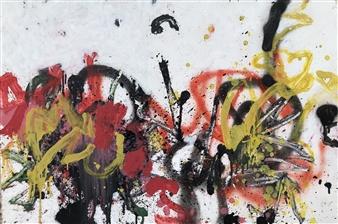 """Tue 2 Acrylic & Oil on Fiber Board 23.5"""" x 37.5"""""""