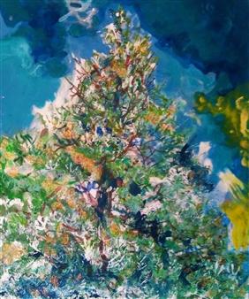 """Abeto Glauco. White Spruce Mixed Media on Canvas 24"""" x 20"""""""