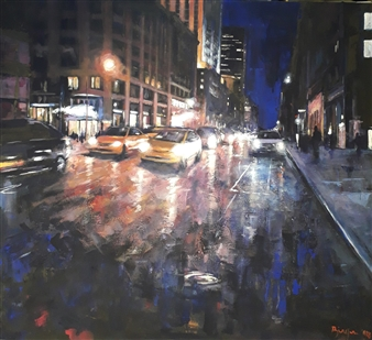 "Notturno Acrylic on Canvas 28"" x 31.5"""
