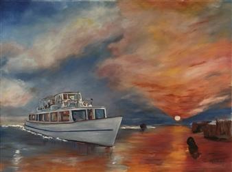 "The Rhine Oil on Canvas 35.5"" x 47.5"""