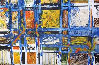 """Blues Music Acrylic & Oil on Canvas 29.5"""" x 39.5"""""""