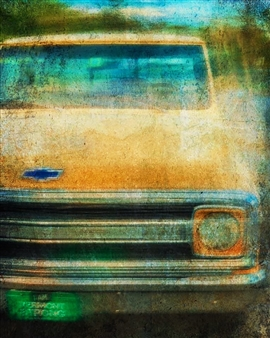 """A Yellow Pickup Archival Pigment Print 17"""" x 11"""""""