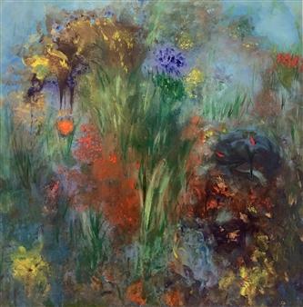 """Fluers De La Passion Acrylic on Canvas 36"""" x 36"""""""
