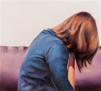 "Untitled Acrylic & Oil on Canvas 35.5"" x 39.5"""