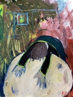 "The Heavy Head Oil on Canvas 31.5"" x 23.5"""