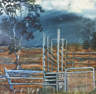 "Storm Race Oil on Canvas 24"" x 24"""