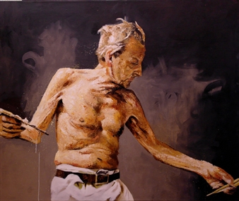 """Mr F Oil on Canvas 39.5"""" x 47"""""""
