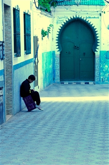 "Morocco Street Digital Photography 14"" x 20"""