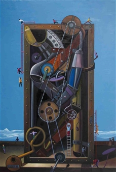 """Time Machine Oil on Canvas 83"""" x 57"""""""