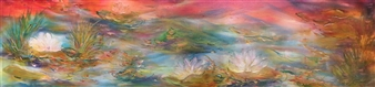 Water Lily in Transparent Happy Waters